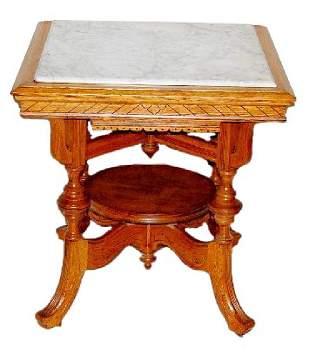OAK MARBLE TABLE