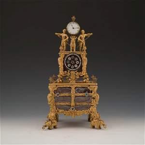 GEORGE III TIME MUSIC PENDULUM SIGNATURE OF THOMAS