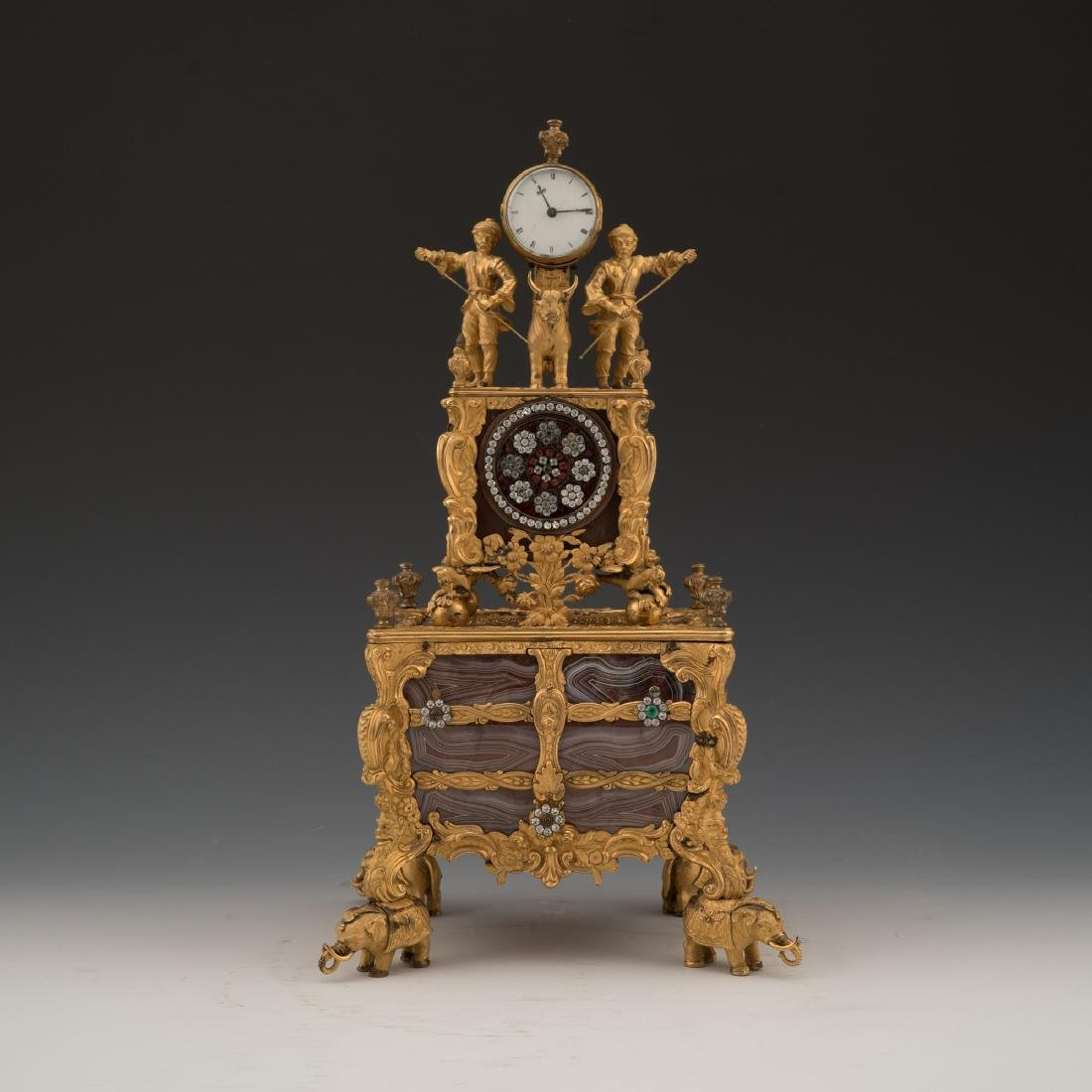 GEORGE III TIME MUSIC PENDULUM SIGNATURE OF THOMAS