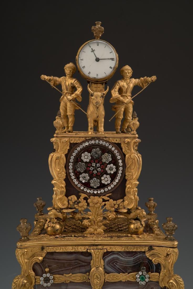 GEORGE III TIME MUSIC PENDULUM SIGNATURE OF THOMAS - 5