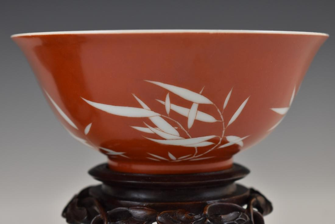 PAIR OF BAMBOO RED BOWLS IN PROTECTIVE BOX - 8