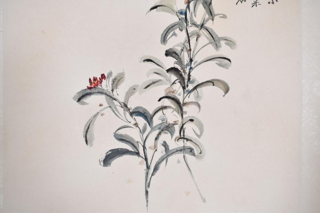 1981, ZHANG DAQIAN OSMANTHUS SCROLL PAINTING - 4