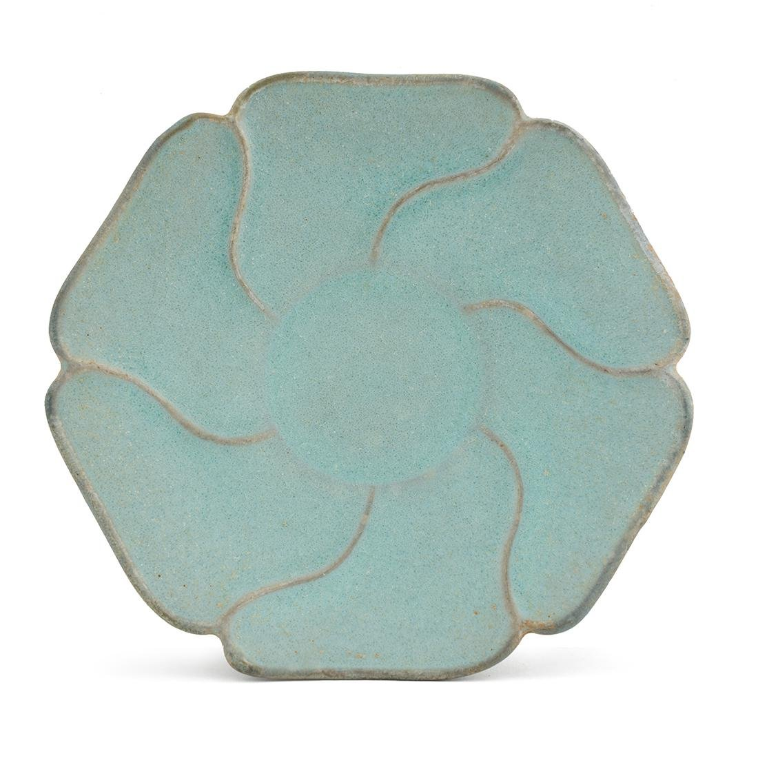 CHINESE RU FLORI-FORM WARE PLATE