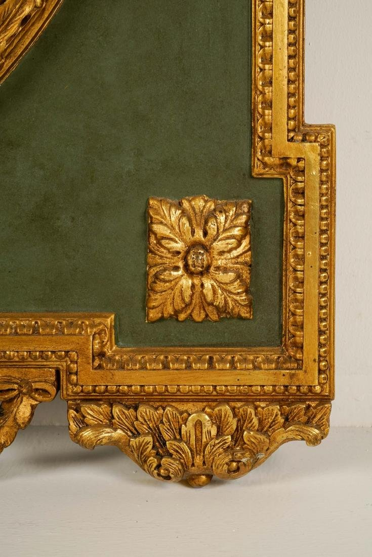 LARGE LOUIS XVI-STYLE CARVED GILTWOOD MIRROR - 5