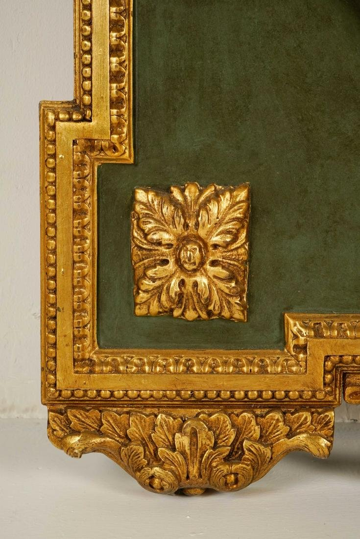 LARGE LOUIS XVI-STYLE CARVED GILTWOOD MIRROR - 6