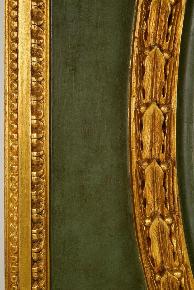 LARGE LOUIS XVI-STYLE CARVED GILTWOOD MIRROR - 8