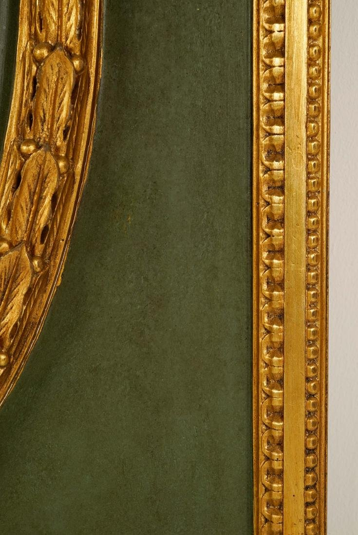 LARGE LOUIS XVI-STYLE CARVED GILTWOOD MIRROR - 9