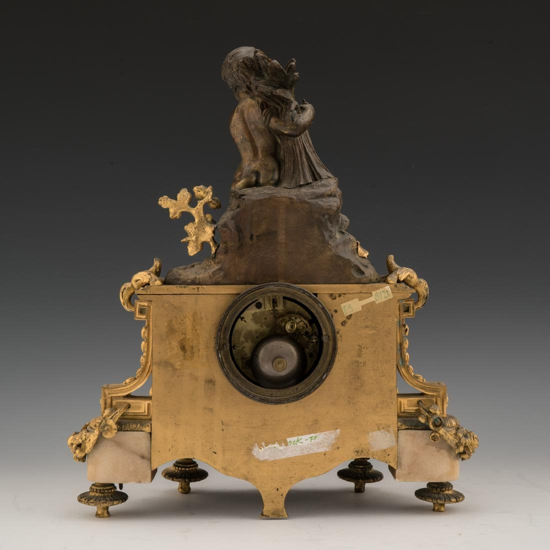 19TH CENTURY LOUIS XVI-STYLE GILT AND PAINTED BRONZE - 3