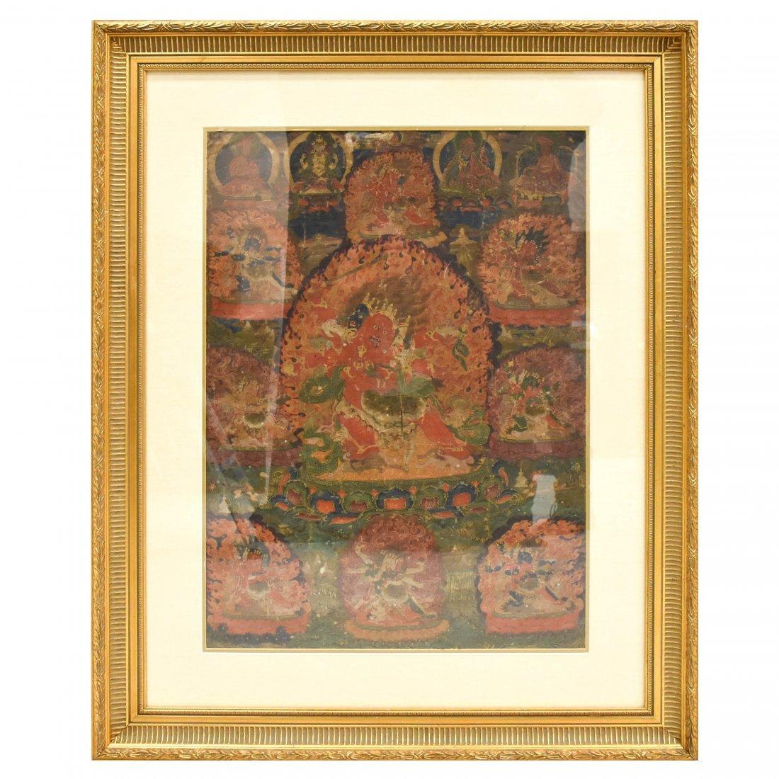A TIBETAN BARDO THANGKA OF SAMANTABHADRA