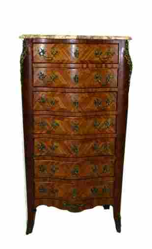 MARBLE INLAID CHEST