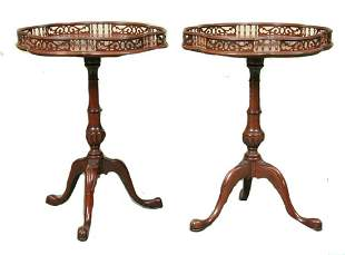 MAHAGONY CANDLE STANDS