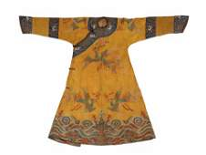 RARE 18TH C PHOENIX SILK ROBE