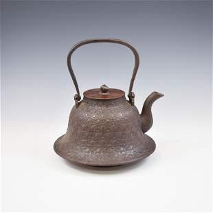 JAPANESE BRONZE TEA POT