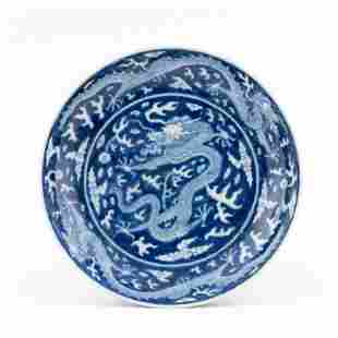 KANGXI RESERVED BLUE DRAGON CHARGER