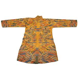 18TH/19TH C. QING DYNASTY EMBROIDERY SILK IMPERIAL