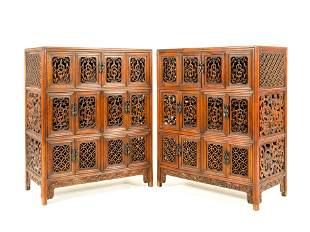 HUANGHUALI DOUBLE DOOR PIERCED CABINETS