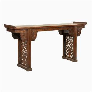 EVERTED RIM HUANGHUALI ALTAR TABLE