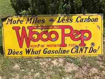 72' Woco Pep Porcelain Sign