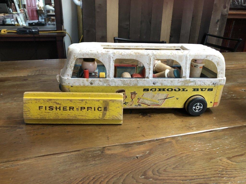 Wooden Fisher Price School Bus