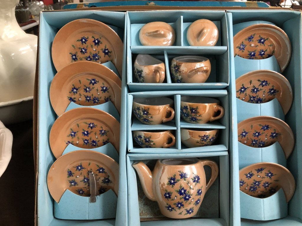 Vintage Child's Tea Set in Box