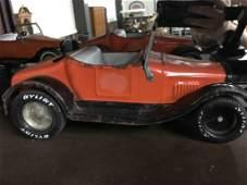 NY Lint Toys Rockford, ILL Pressed Steel Car Orange