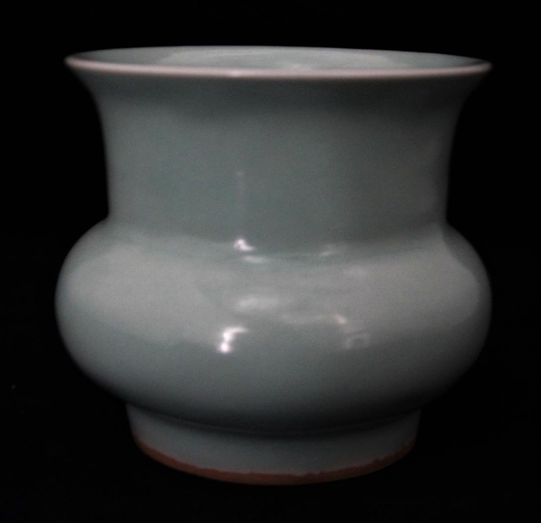 CELADON GLAZED SPITTOON
