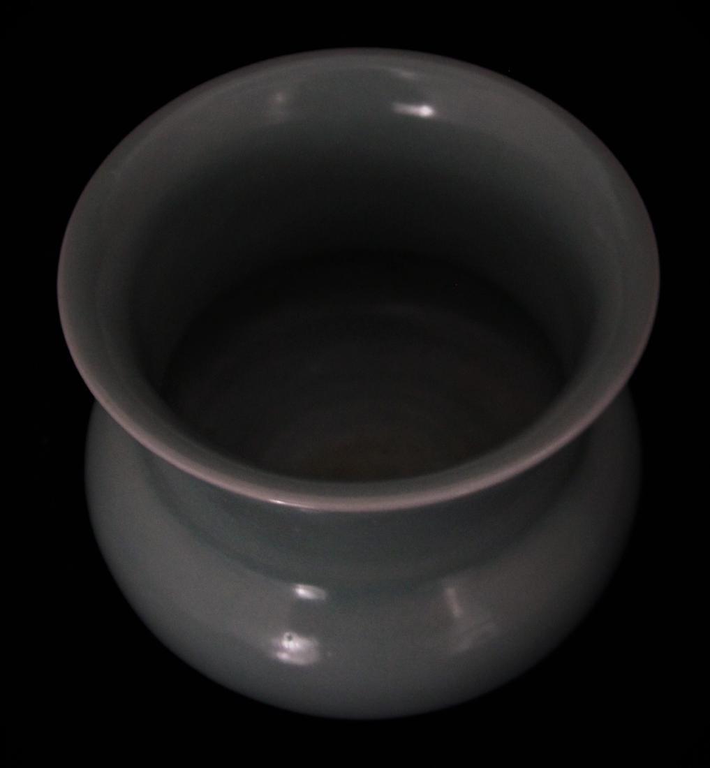 CELADON GLAZED SPITTOON - 5