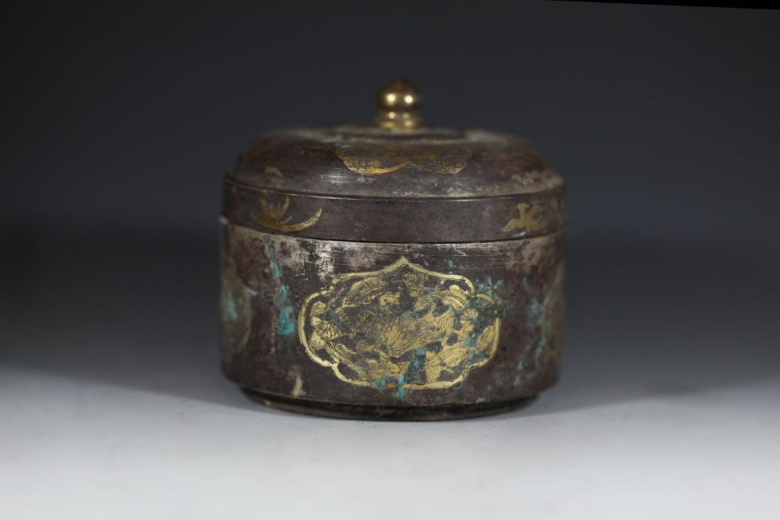 A GILT-BRONZE BOX