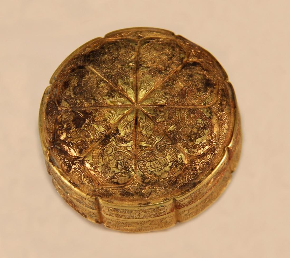 A Gold Powder Box - Han Dynasty