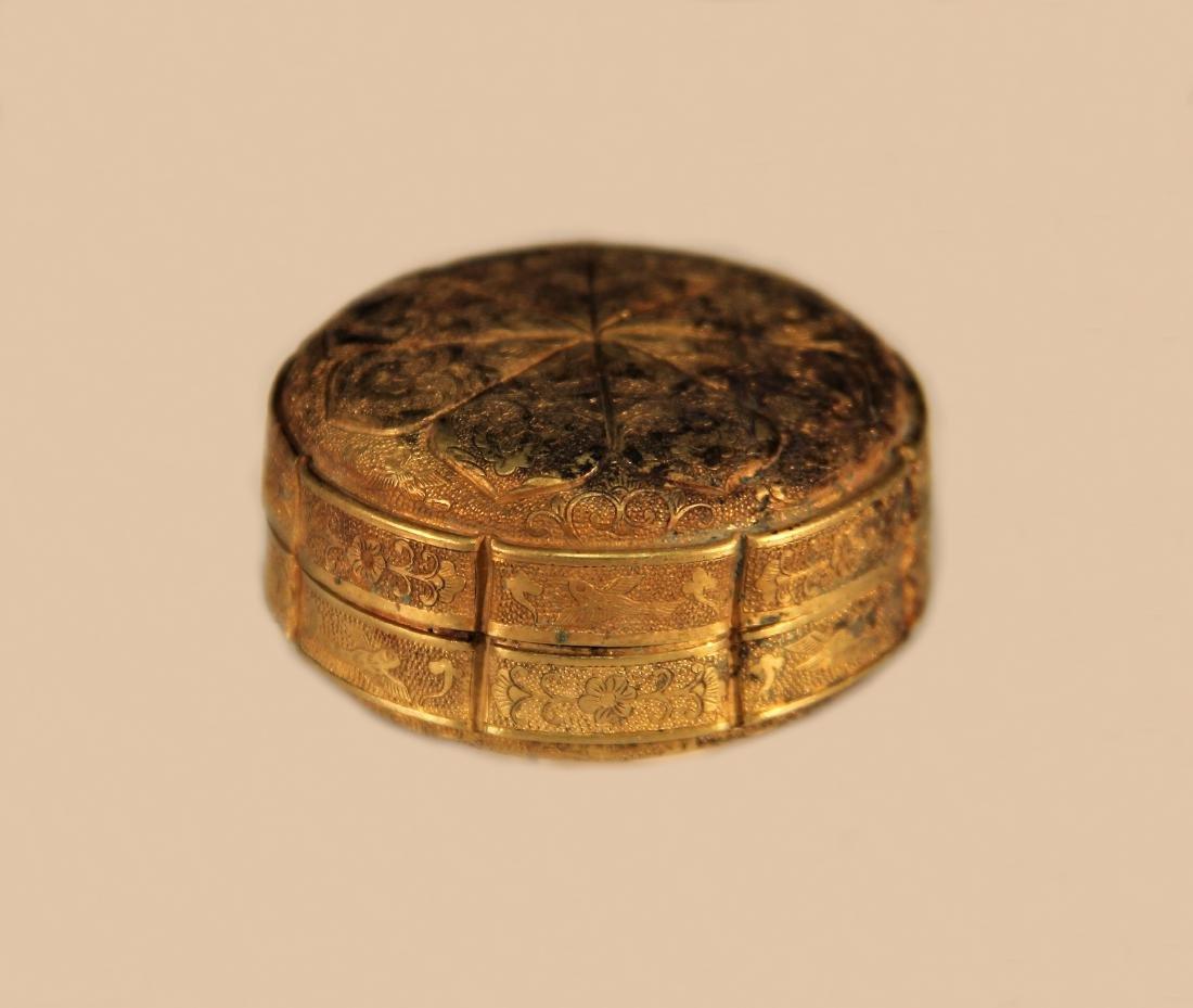 A Gold Powder Box - Han Dynasty - 5