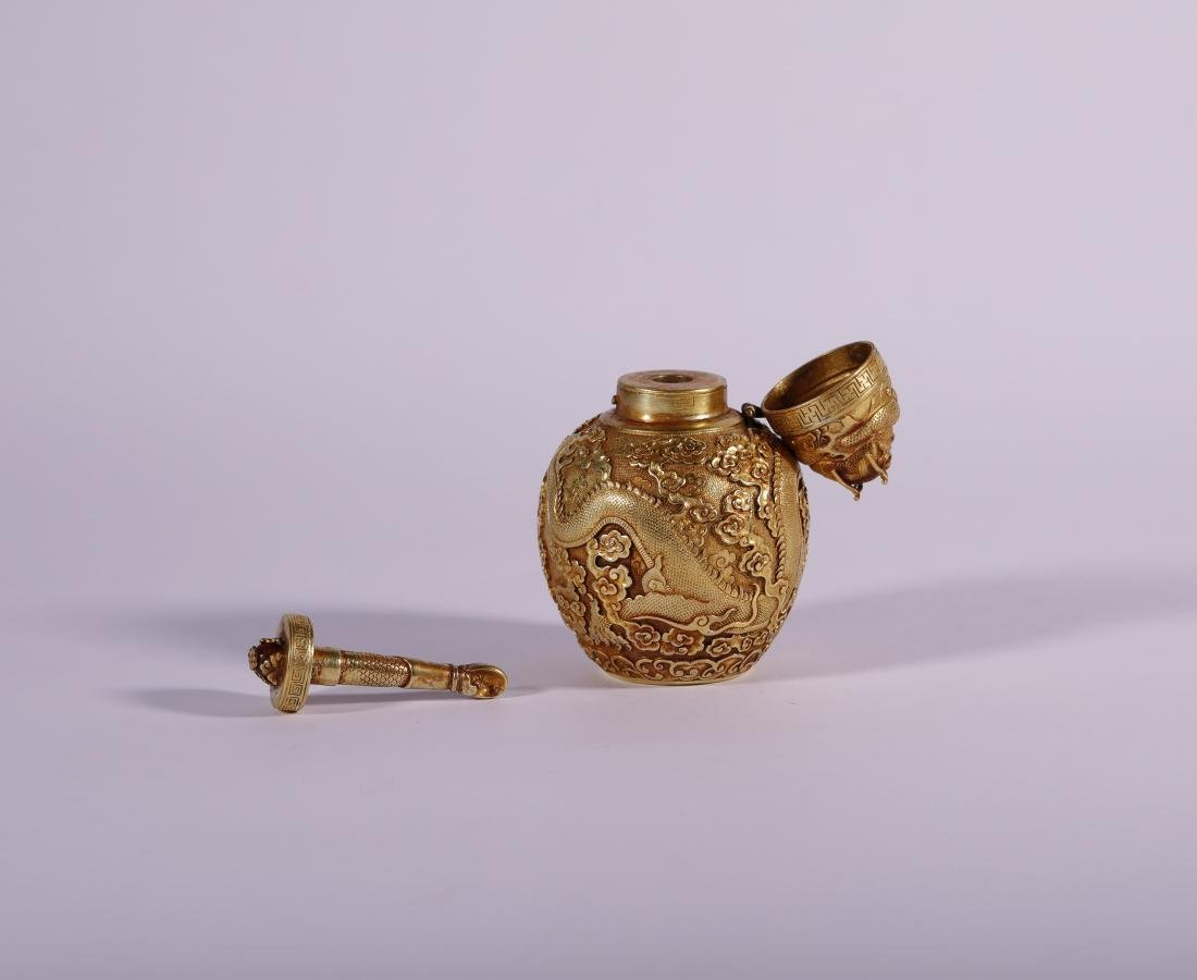 "Qing Dynasty - ""Qian Long"" Styled Snuff Bottle - 3"