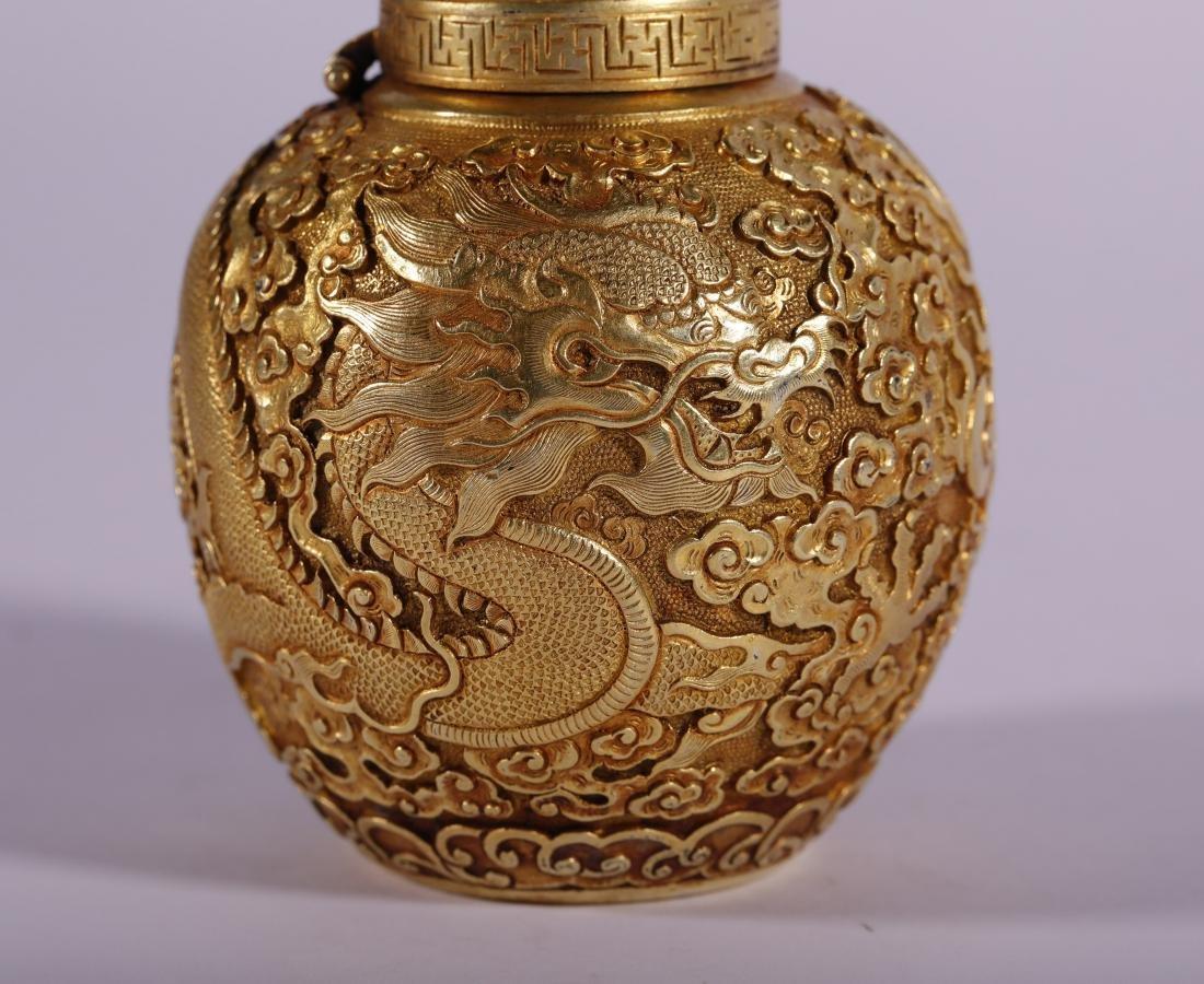 "Qing Dynasty - ""Qian Long"" Styled Snuff Bottle - 6"