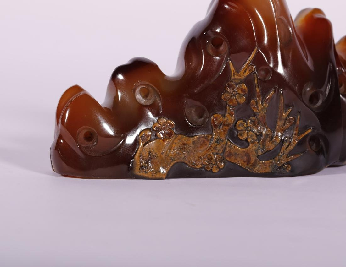 Qing Dynasty - Mountain Like Penholder - 6