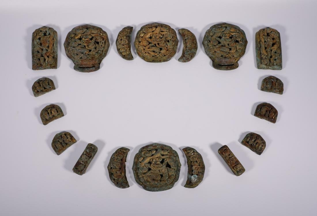 Liao Dynasty - Gilted Connective Waist Belt
