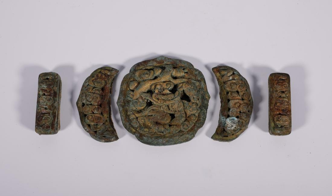 Liao Dynasty - Gilted Connective Waist Belt - 3