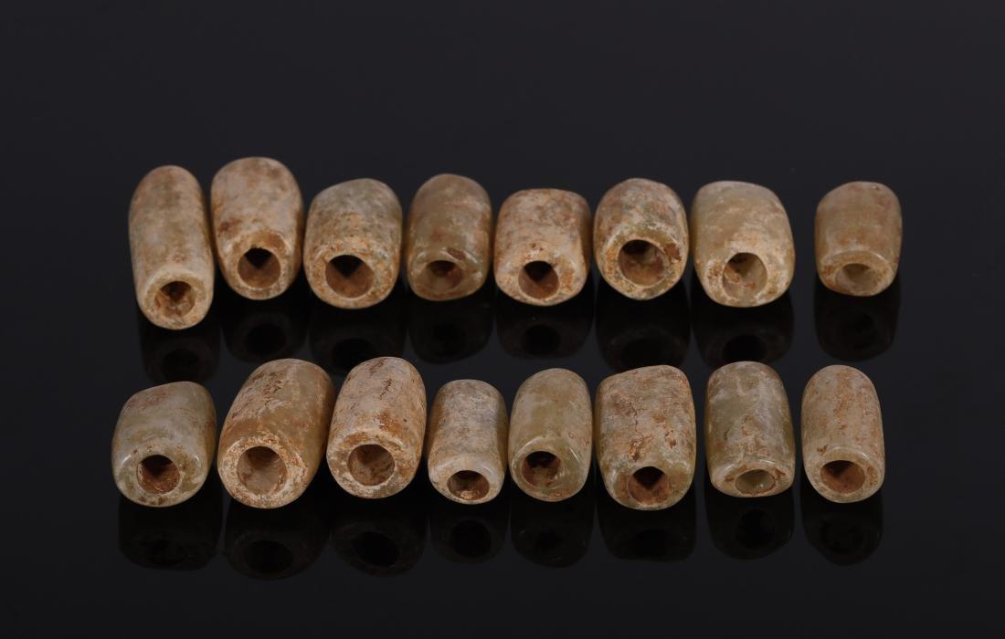 Hongshan Culture - Set Of Jade Tubes - 3