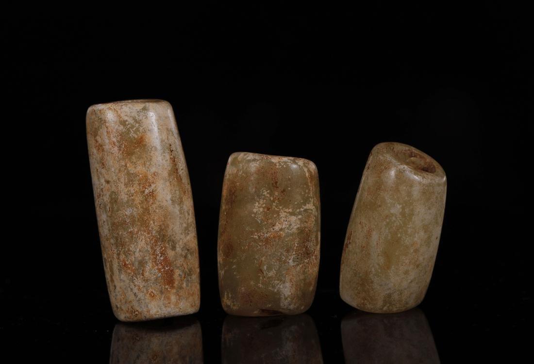 Hongshan Culture - Set Of Jade Tubes - 4