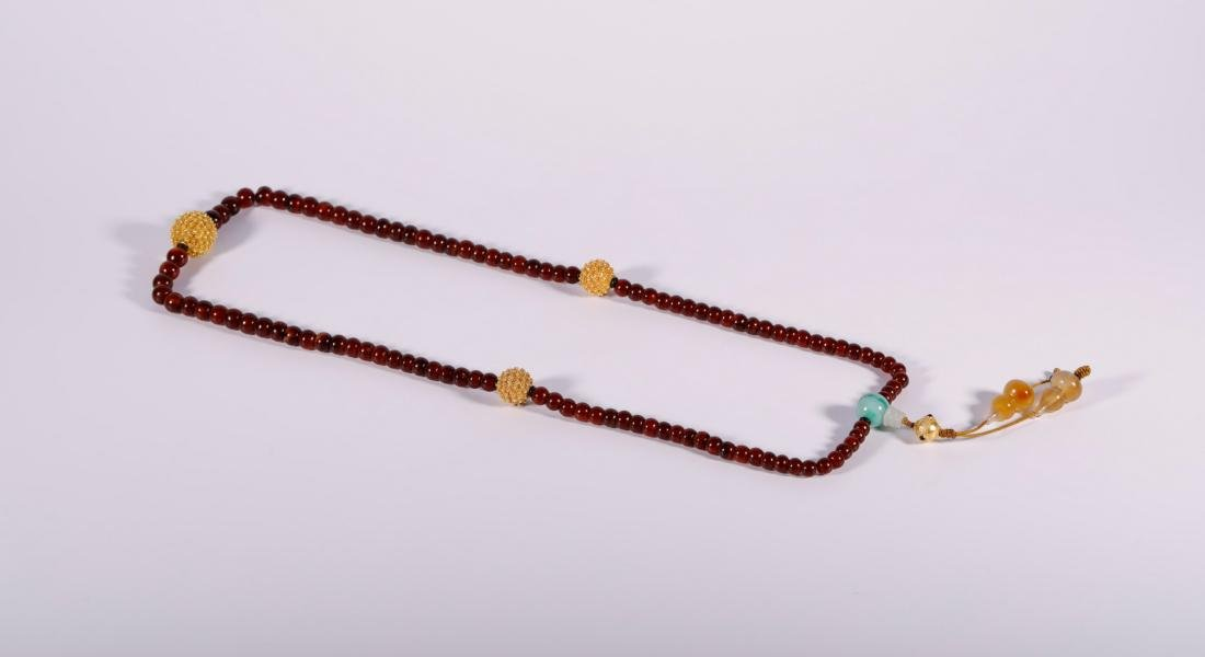 Qing Dynasty - 108 Agate Beads Necklace