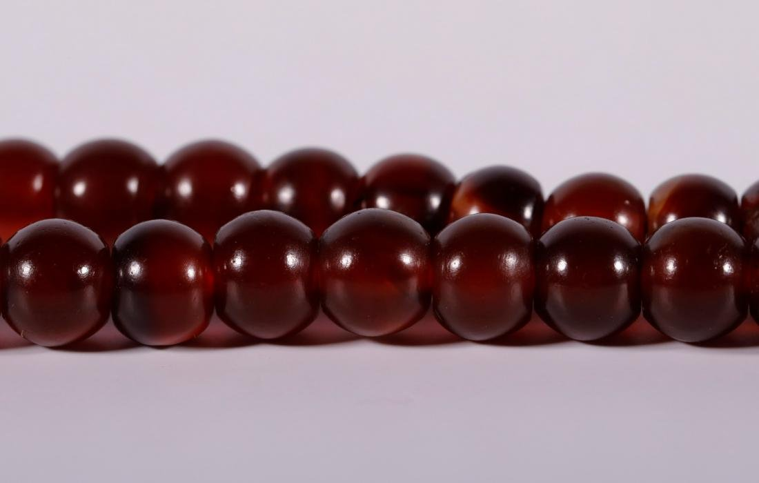 Qing Dynasty - 108 Agate Beads Necklace - 7