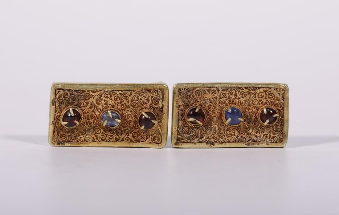 Yuan Dynasy - Gold Belt Covered In Gold Silk And Gems - 5