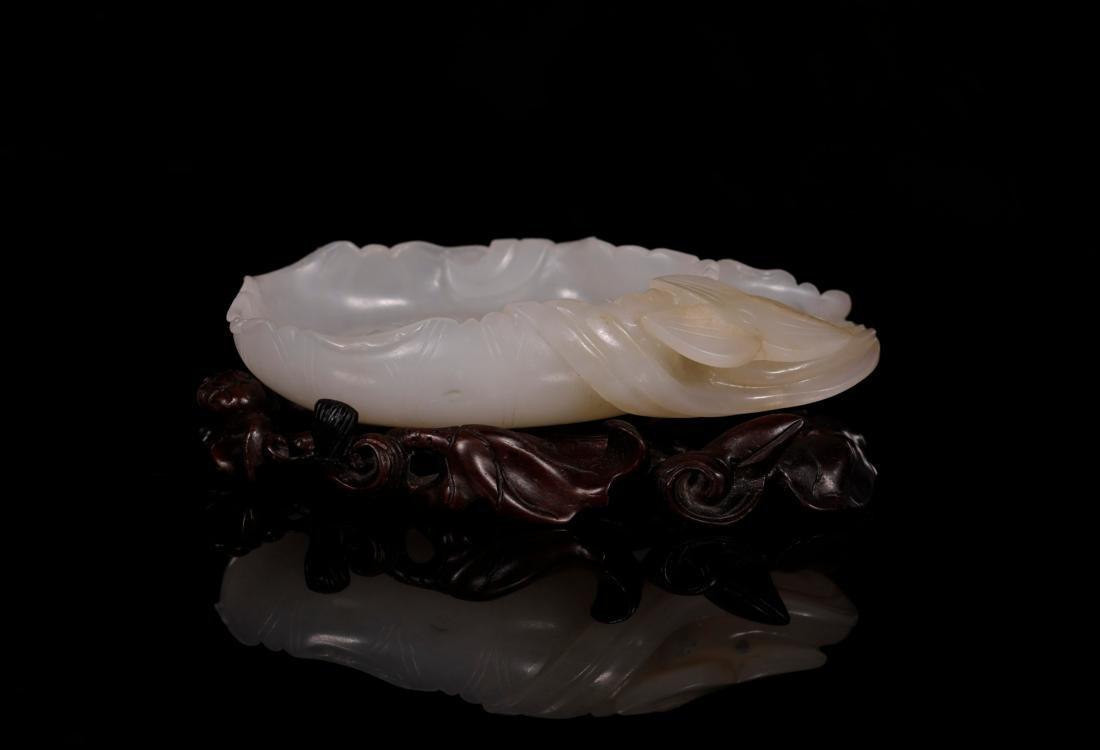 "Qing Dynasty - ""Hetian"" Jade Stationery (4 pc) - 4"