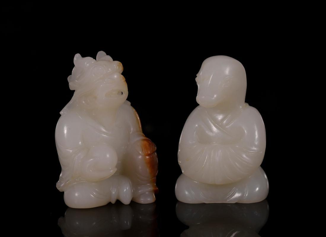 "Qing Dynasty - Set of ""Hetian"" Jade 12 Chinese Zodiacs - 5"