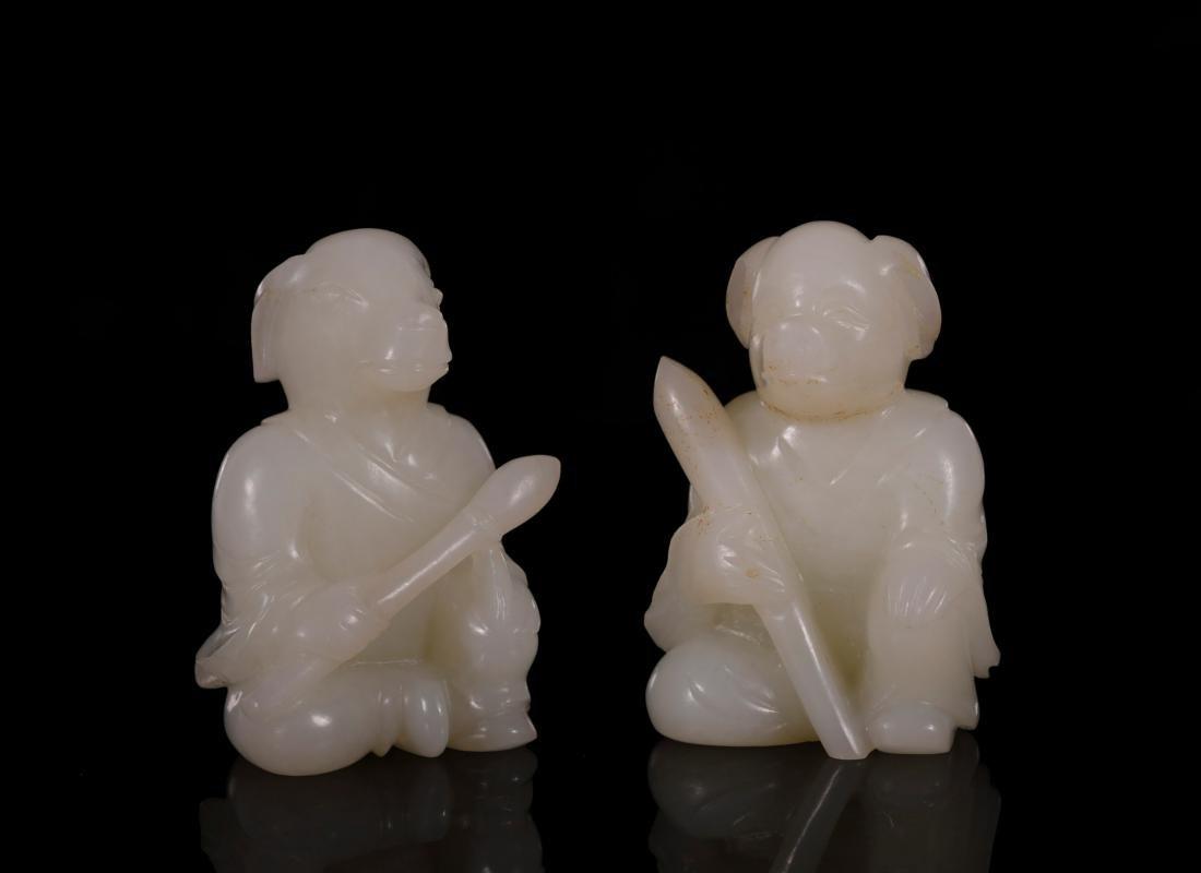 "Qing Dynasty - Set of ""Hetian"" Jade 12 Chinese Zodiacs - 8"