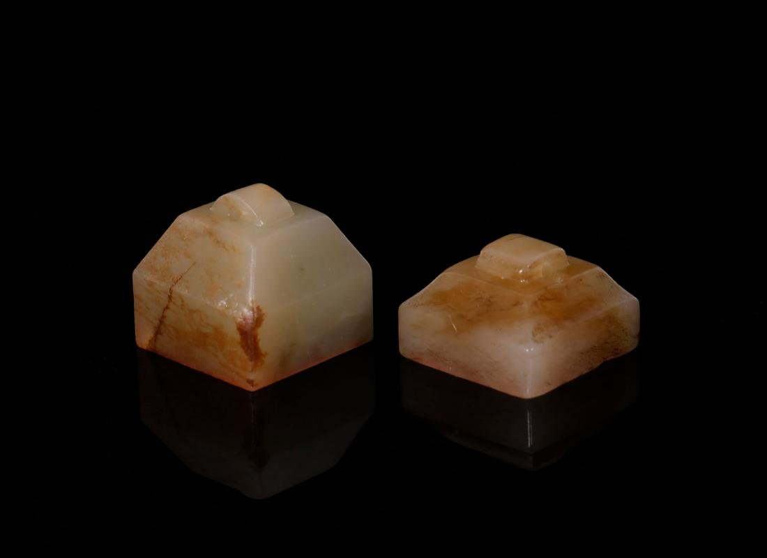 Han Dynasty - A Pair Of Jade Seal - 3