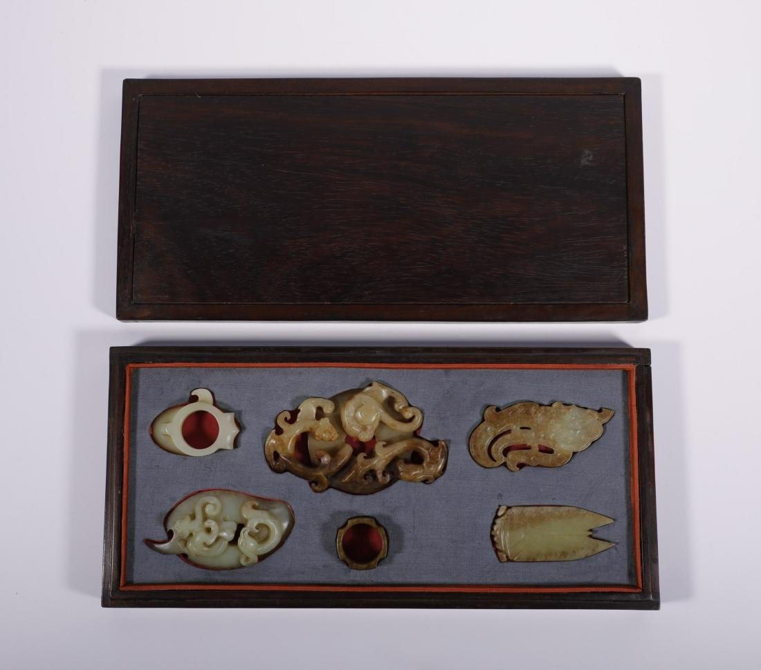 Han Dynasty - Uniquely Designed 6 Jade Ornaments
