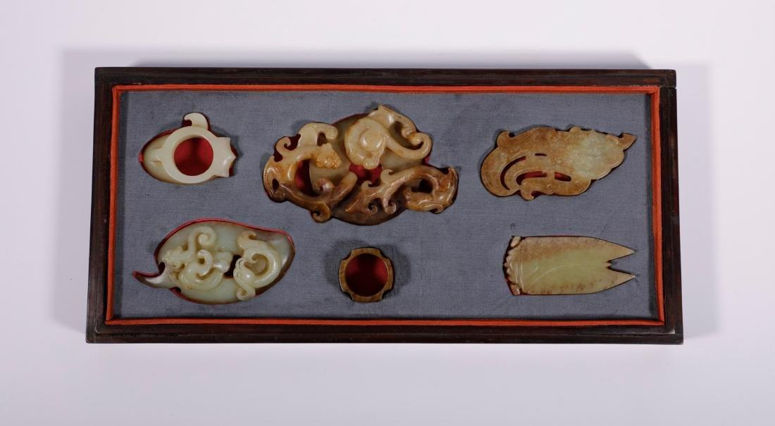 Han Dynasty - Uniquely Designed 6 Jade Ornaments - 2