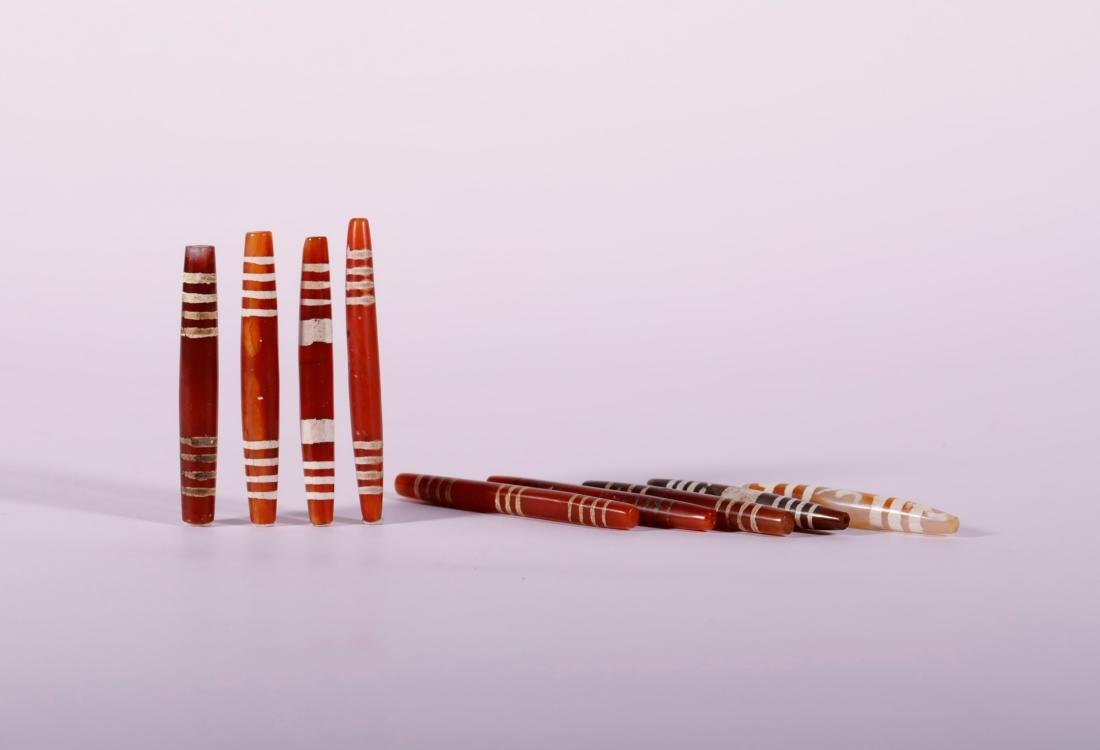 Western Asia Era - Patterned Agate Tubes
