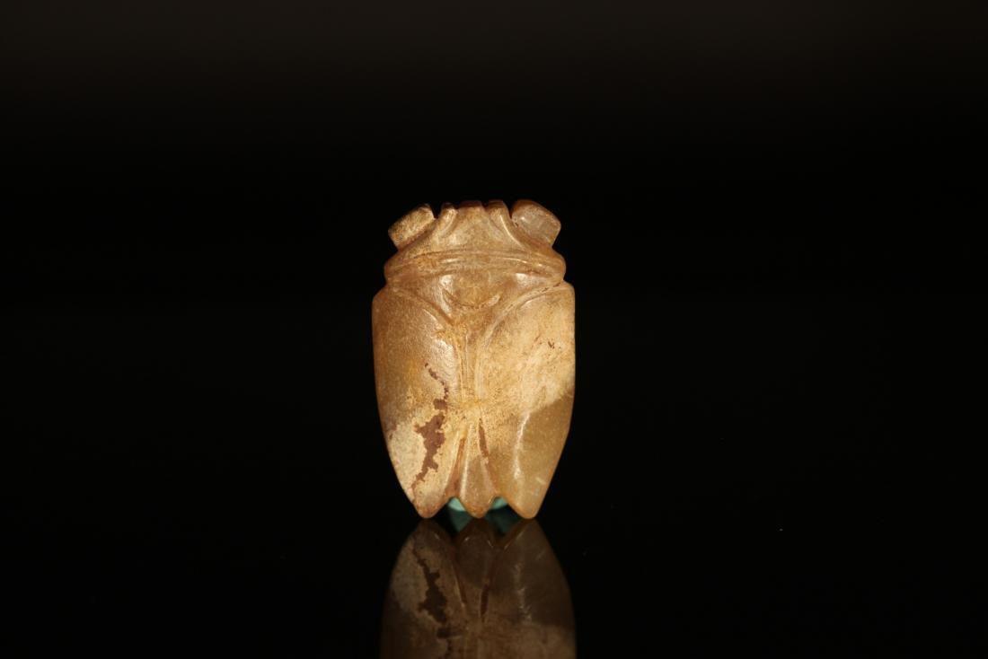 Han Dynasty - Green Sapphire Jade Cicada