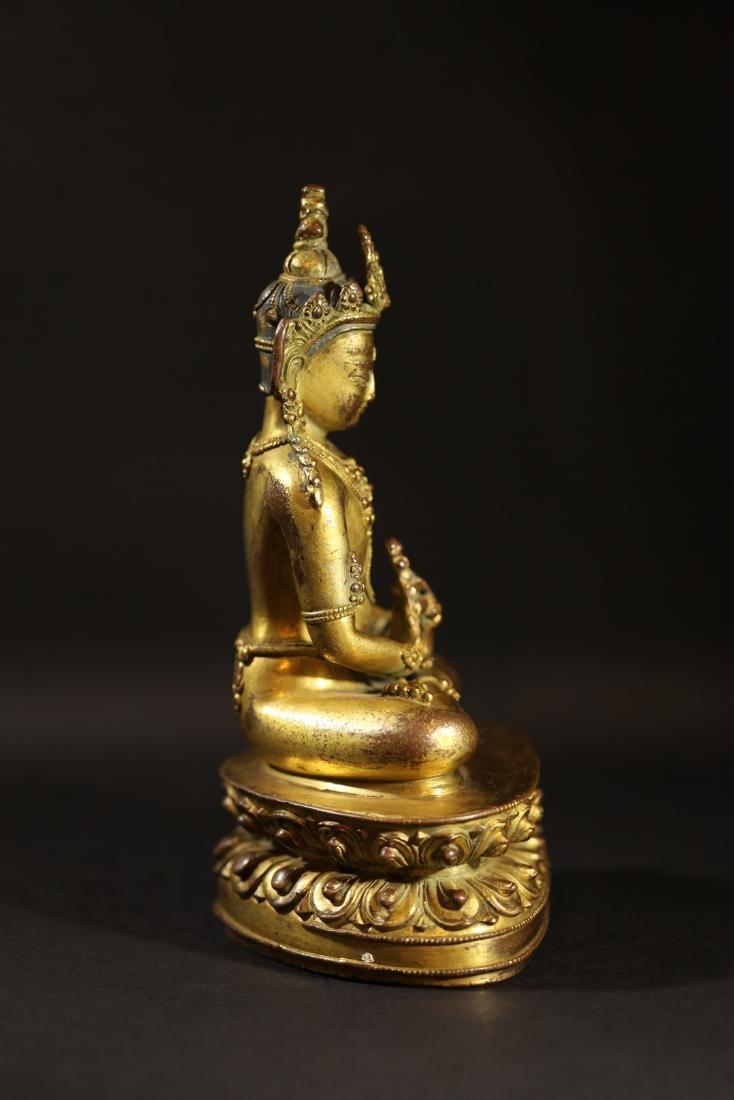 Ming Dynasty - Gilted Buddha Statue - 2