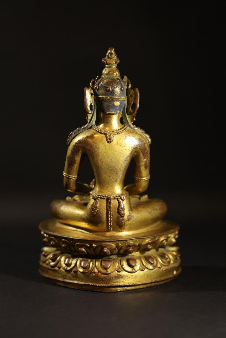 Ming Dynasty - Gilted Buddha Statue - 3